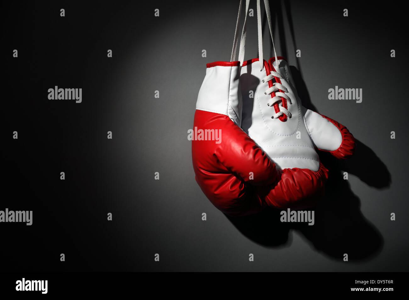 Hängen Sie Ihre Boxhandschuhe Stockbild