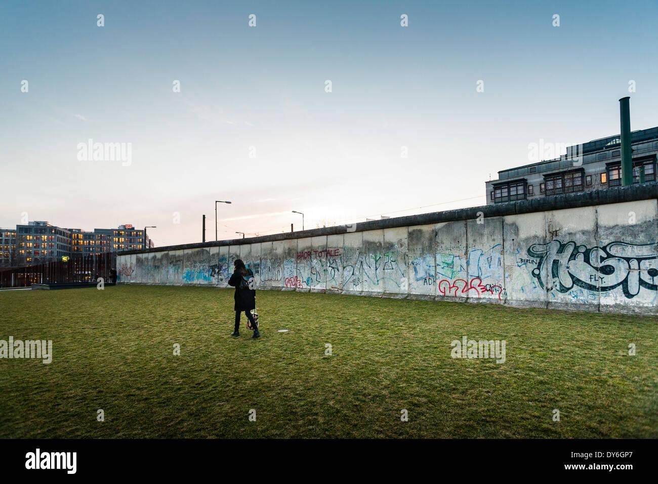 Gedenkstätte Berliner Mauer, Deutschland Stockbild