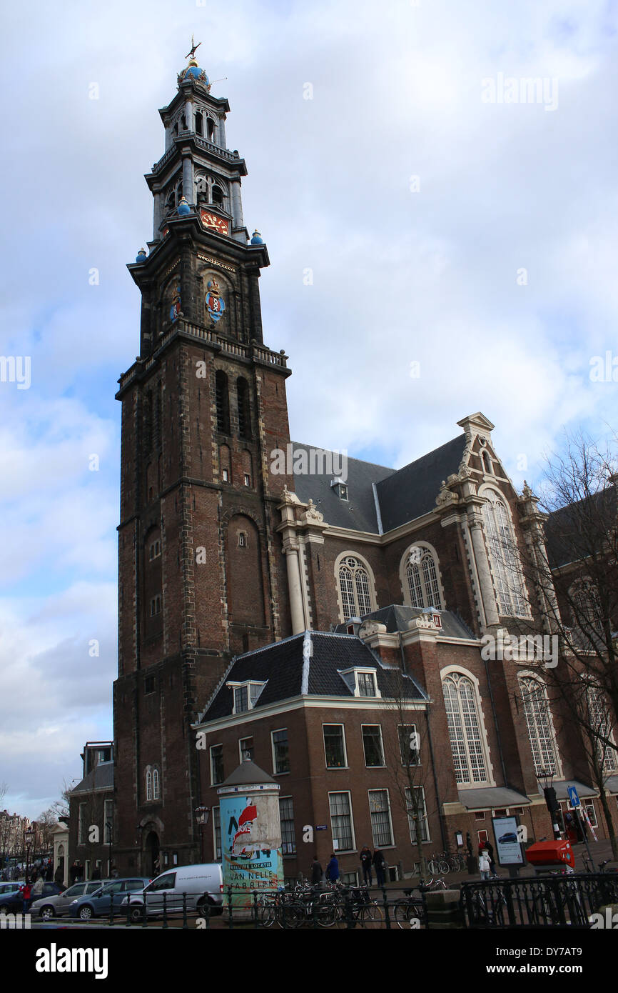 17 Jahrhundert Bild Architektur: 17. Jahrhundert Westerkerk Mit Glockenturm In Amsterdam In