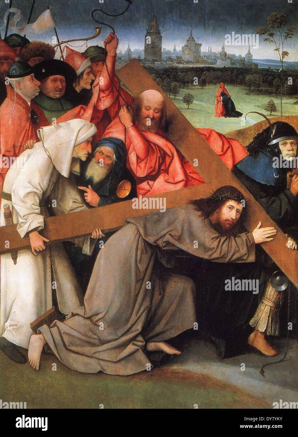 Hieronymus Bosch Die Kreuztragung Christi Stockbild
