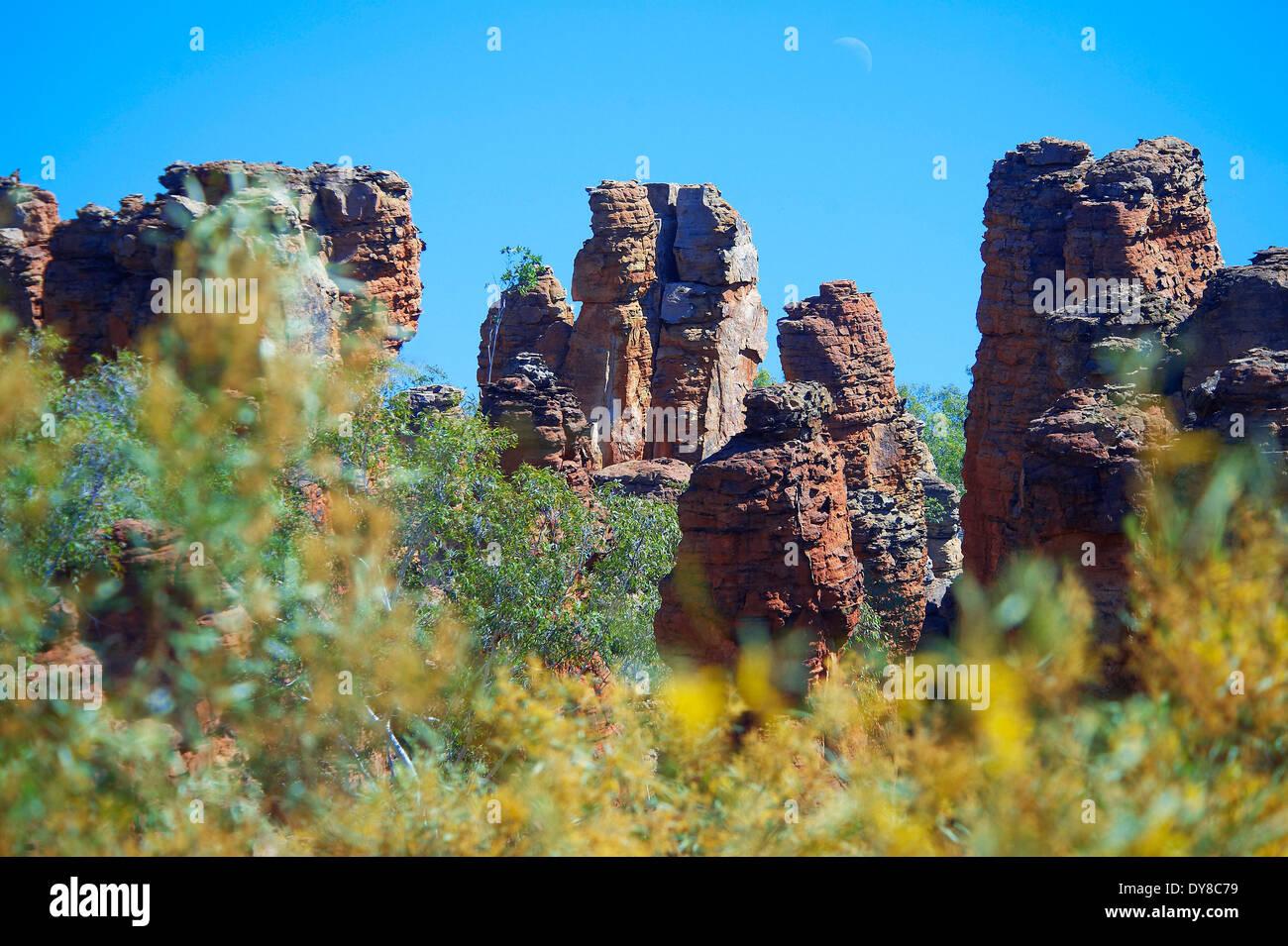 Australien, verlorene Stadt, Northern Territory, Roper, Limmen, Nationalpark, Klippe Bildung, Klippe Stockbild
