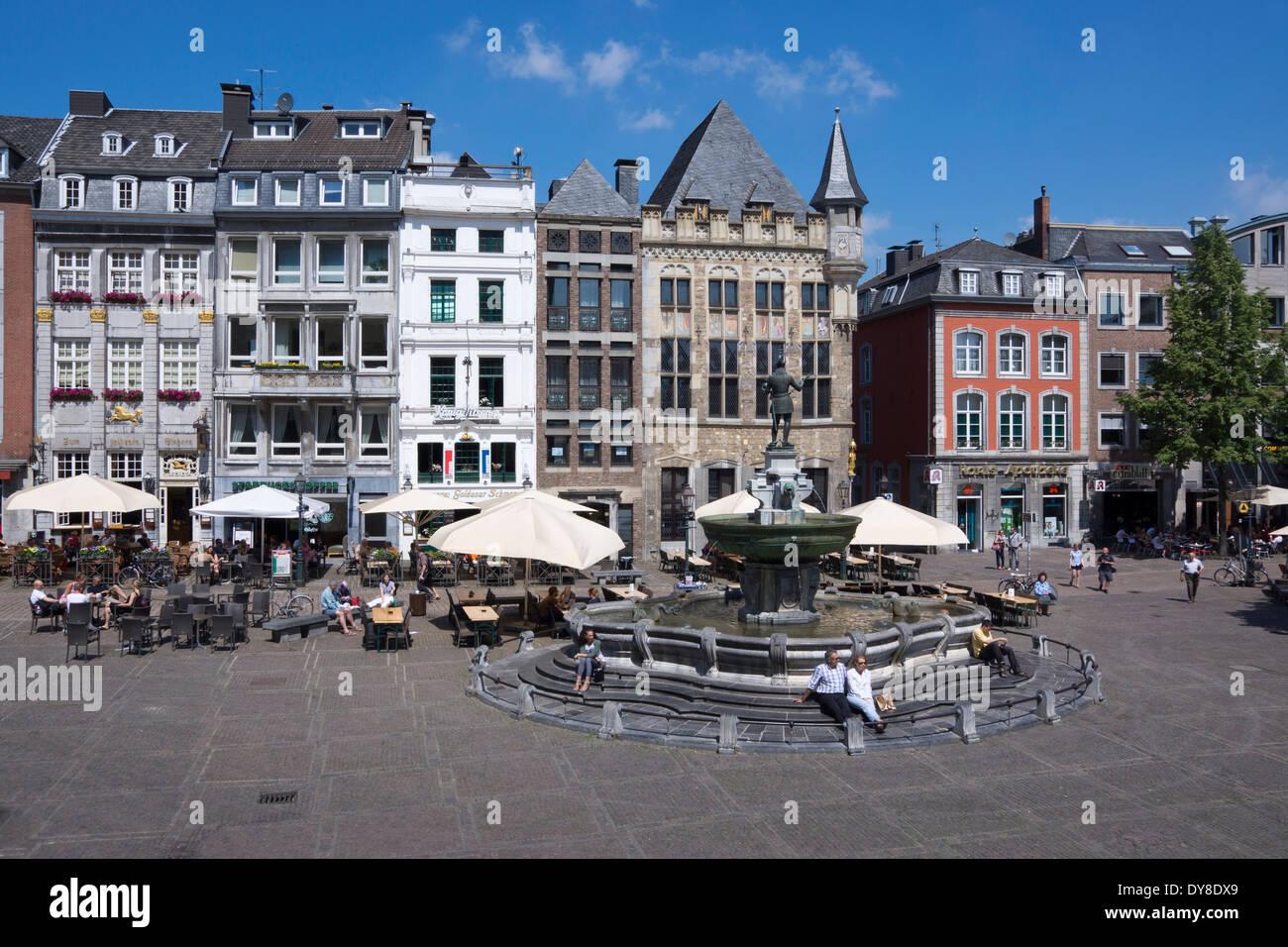 Market Square Aachen Stockfotos & Market Square Aachen
