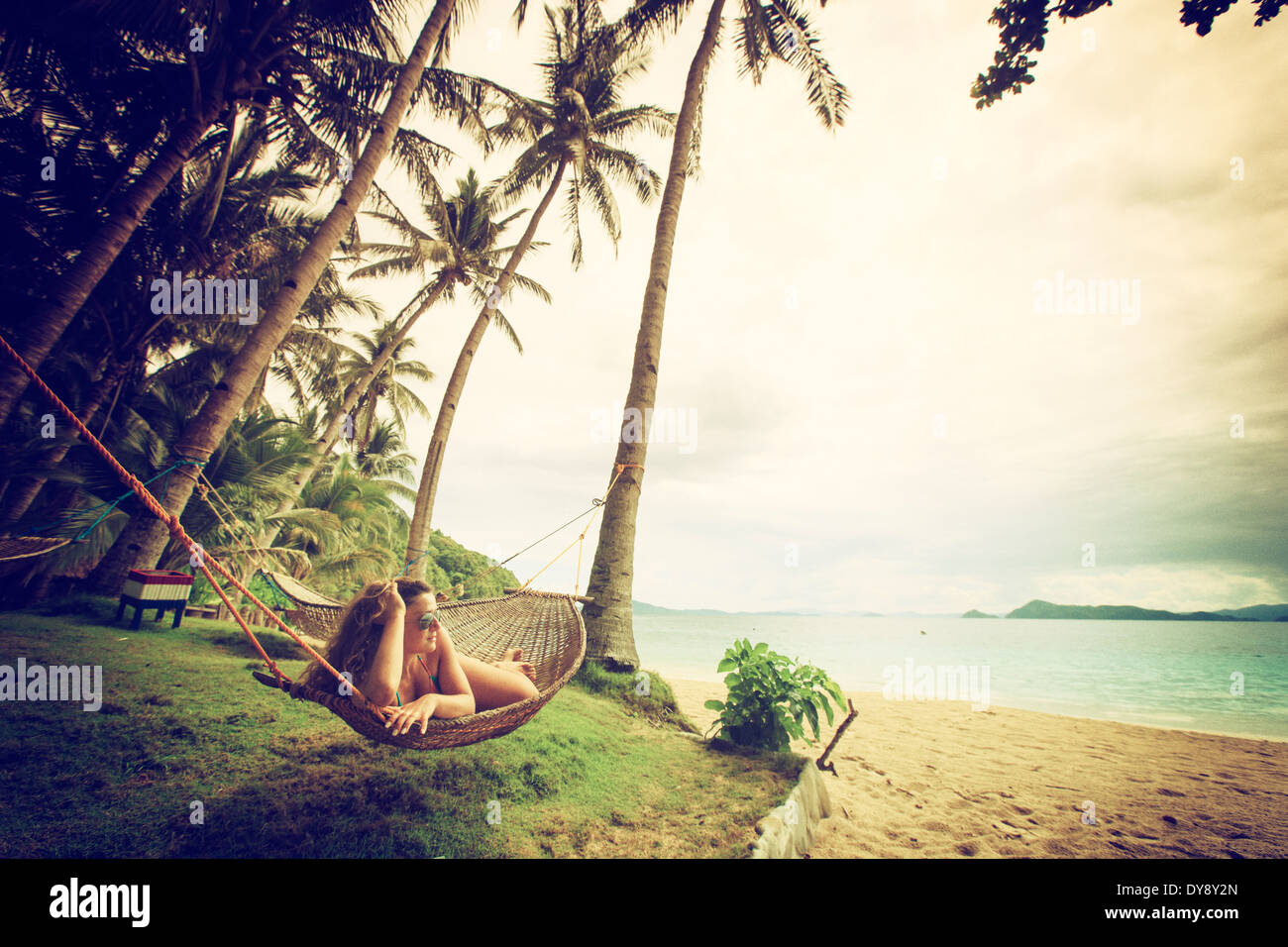 Philippinen, Palawan, Port Barton, Cacnipa Insel Stockbild
