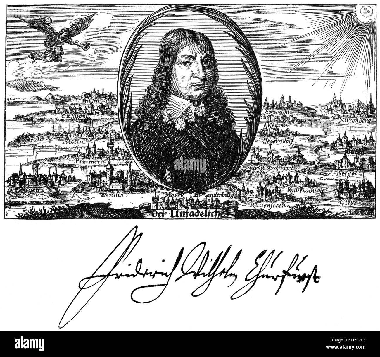 Frederick William, der große Kurfürst, 1620-1688, Kurfürst von Brandenburg und Herzog von Preußen, Mitglied der Fruitbearing Society Stockbild