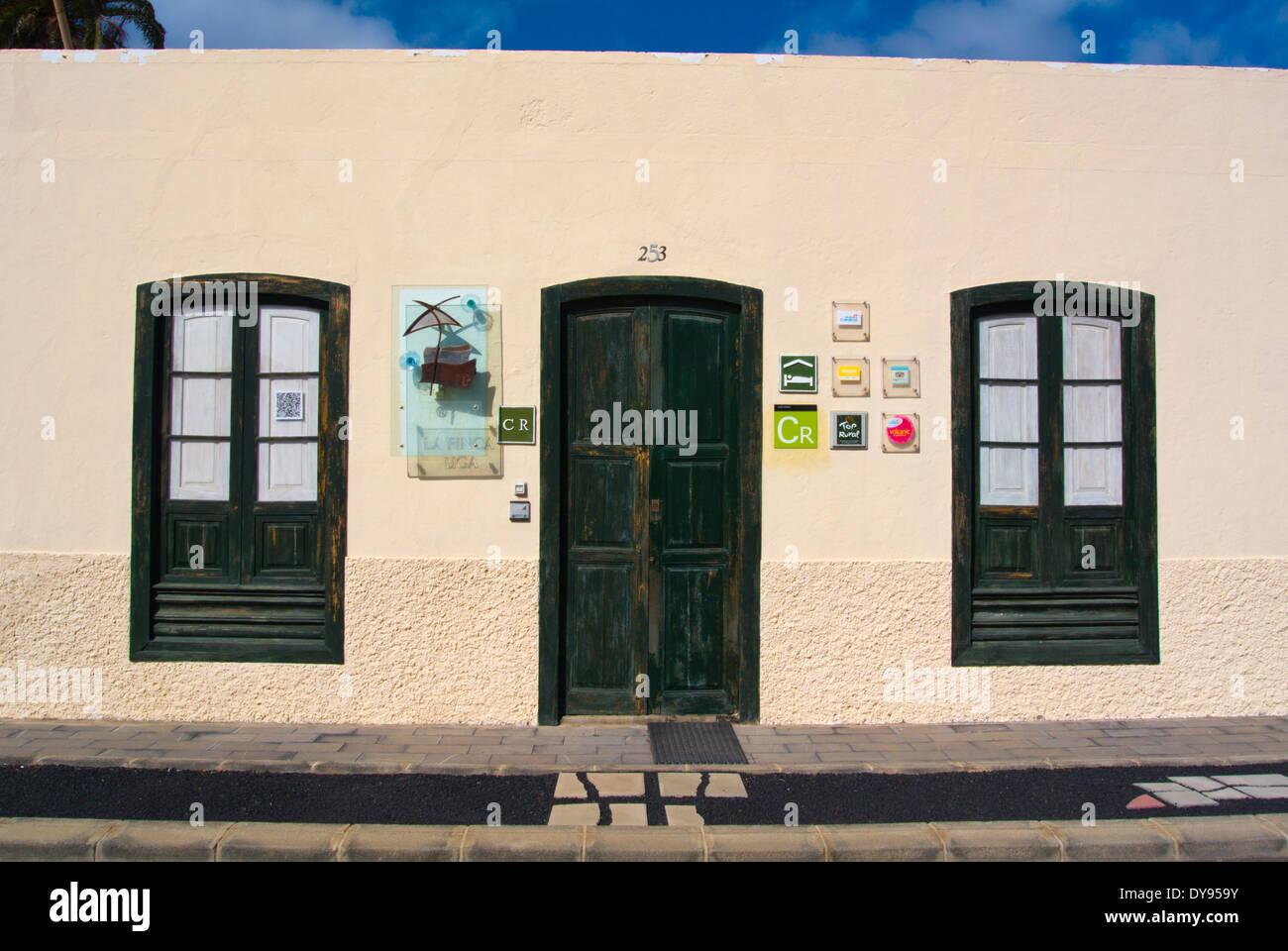 Casa Rural Finca Uga, produzieren Shop Verkauf von lokalen wie Wein und Käse, Uga, Yaiza Grafschaft, Lanzarote, Kanarische Inseln, Spanien Stockbild