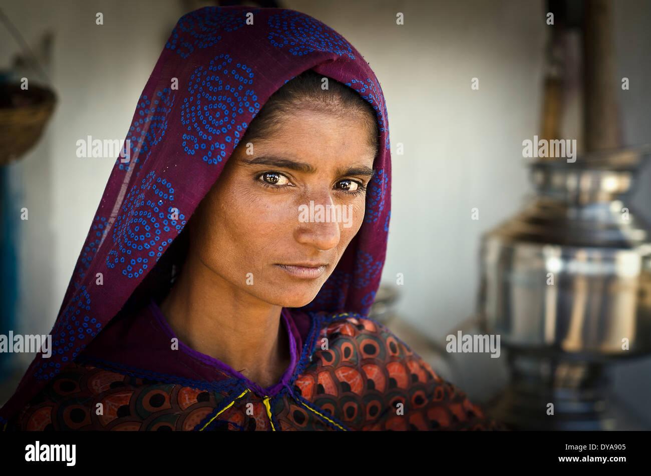 Rabari Frau, Janan, Kutch, Indien Stockbild
