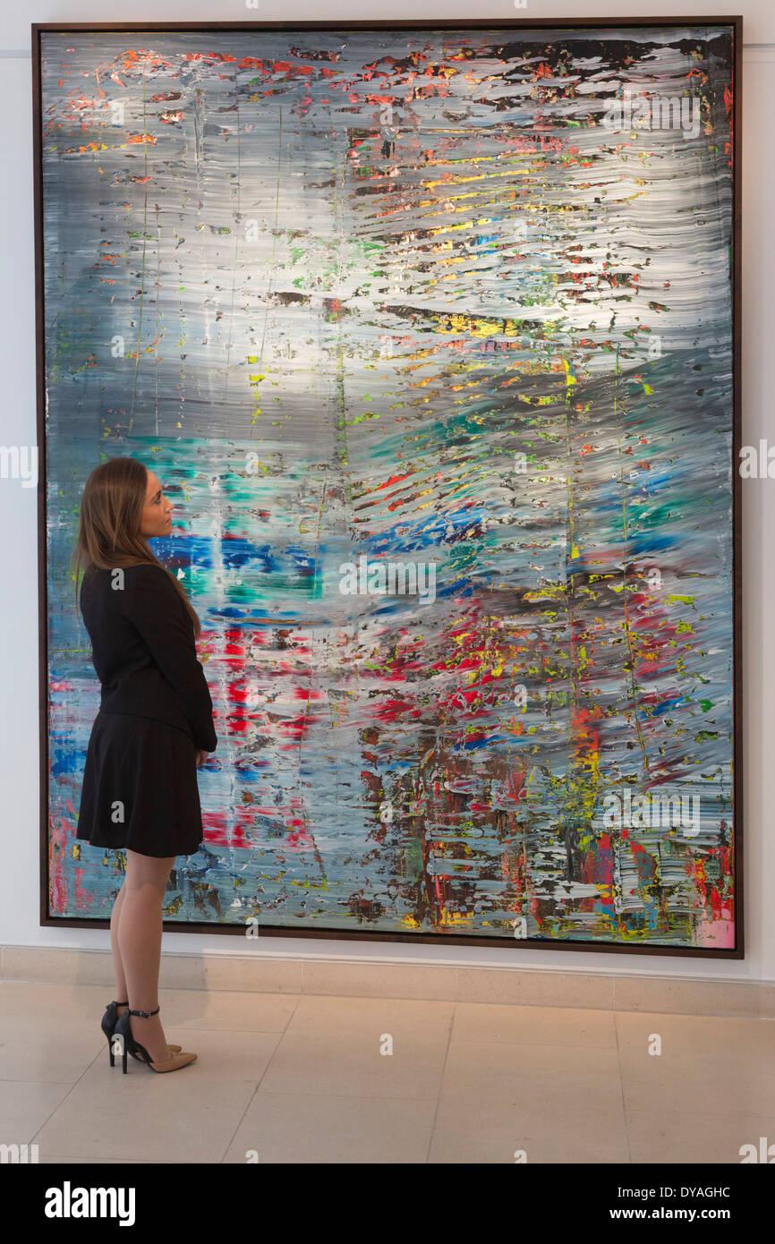 Christies Vorschau Der Nachkriegs Und Zeitgenossische Kunst Malerei Vor Der Auktion Stockfotografie Alamy