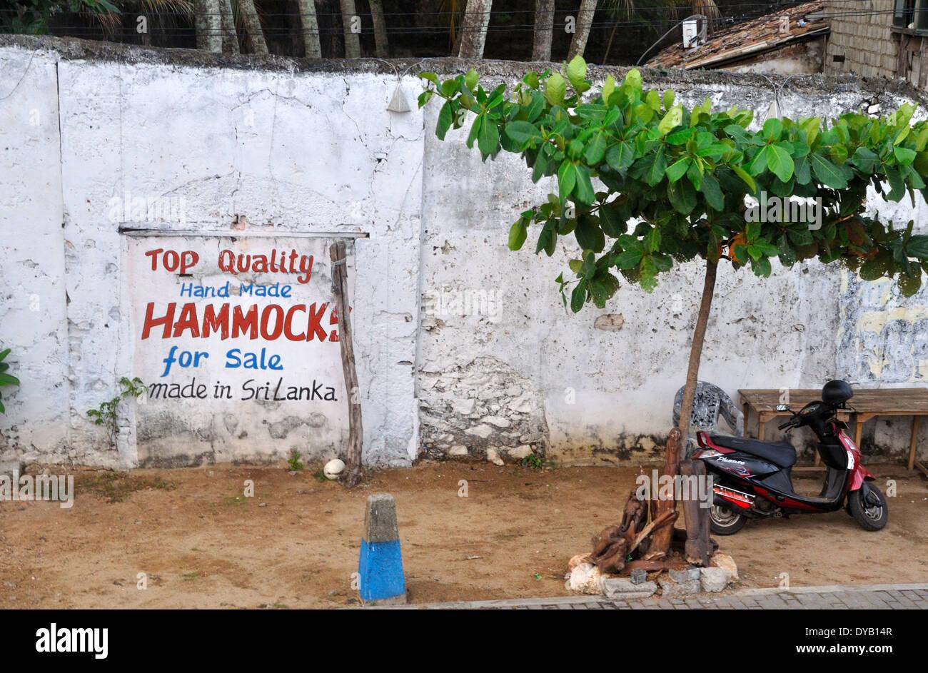 Melden Sie Werbung ortsansässiger, Galle, Sri Lanka Stockbild