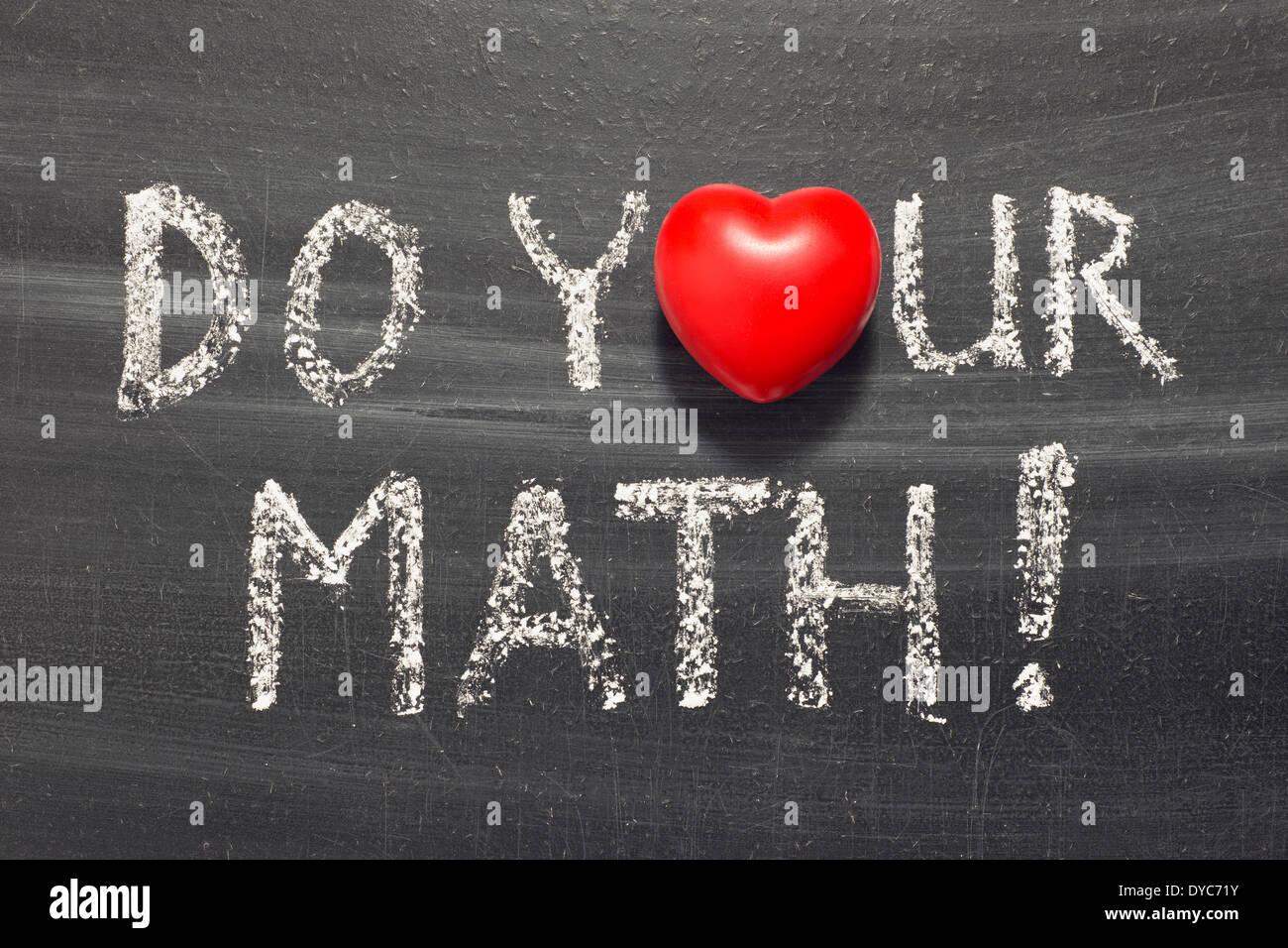 Math Homework Stockfotos & Math Homework Bilder - Alamy