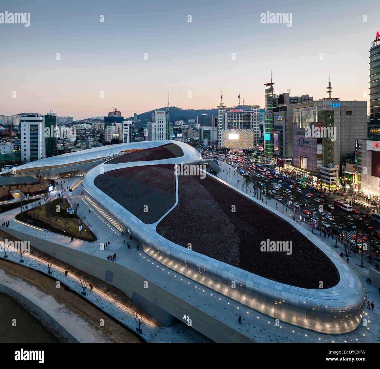 Dongdaemun design plaza ddp seoul s dkorea architekt zaha hadid architects 2014 - Vogelperspektive englisch ...