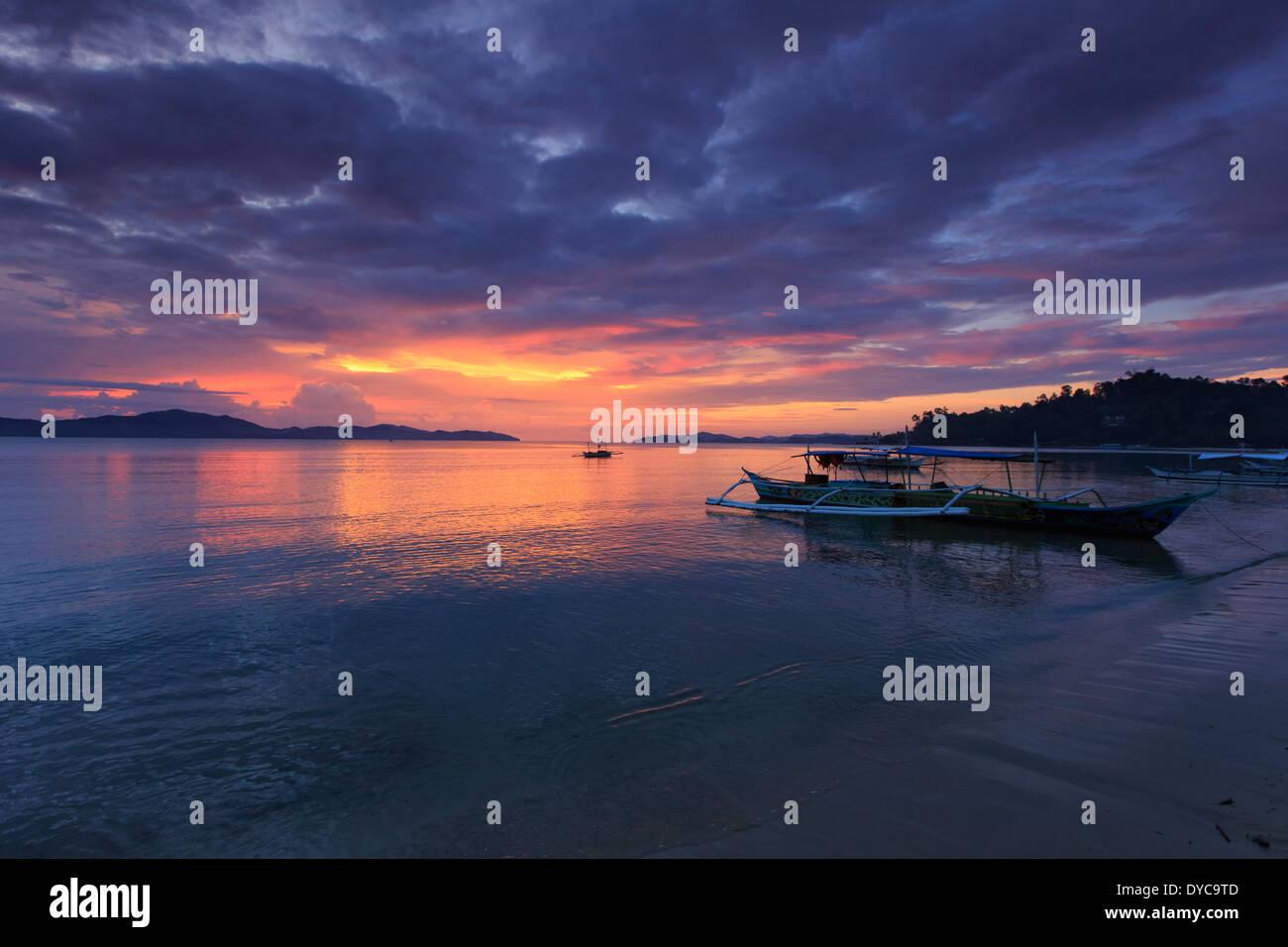 Philippinen, Palawan, Port Barton Stockbild