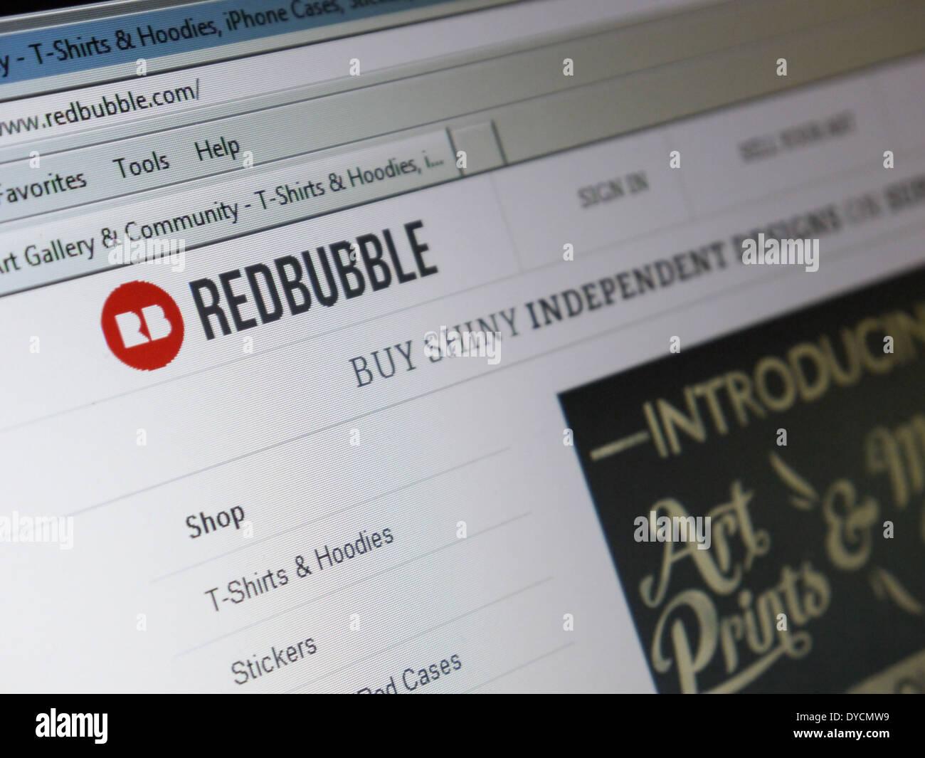 RedBubble kundenspezifisches Produkt Kunstwerk Marktplatz Stockbild