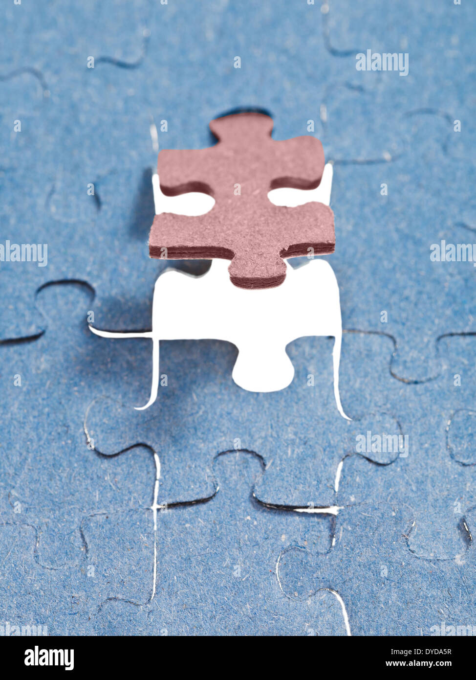 Einstellung der letzten braune Stück des Puzzles im freien Raum in ...