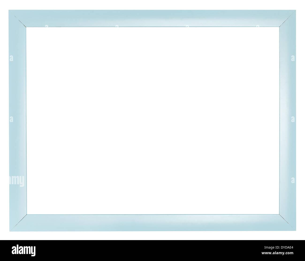 blaue Kunststoff flach einfache Bilderrahmen mit ausgeschnittenen ...