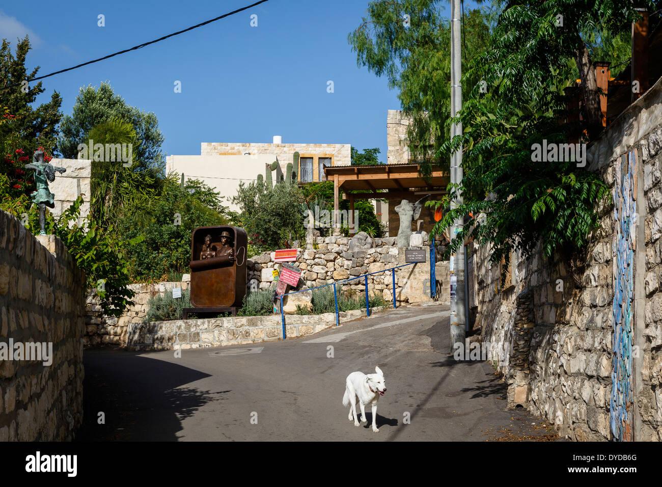 Der Künstler Dorf der Ein Hod, Carmel Gebirge, Israel Stockbild