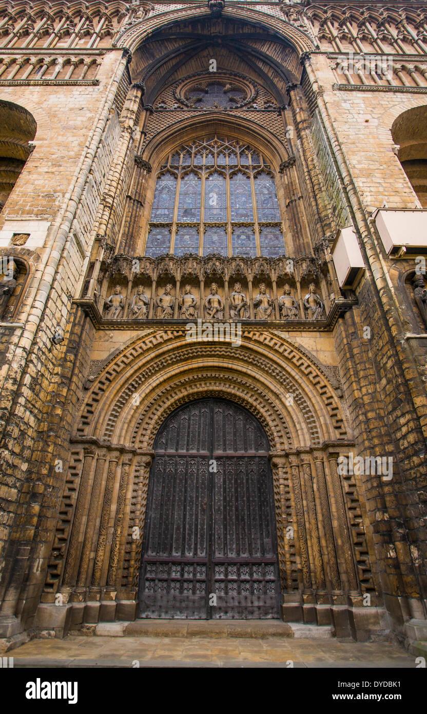 Detail der Architektur an der Kathedrale von Lincoln. Stockbild