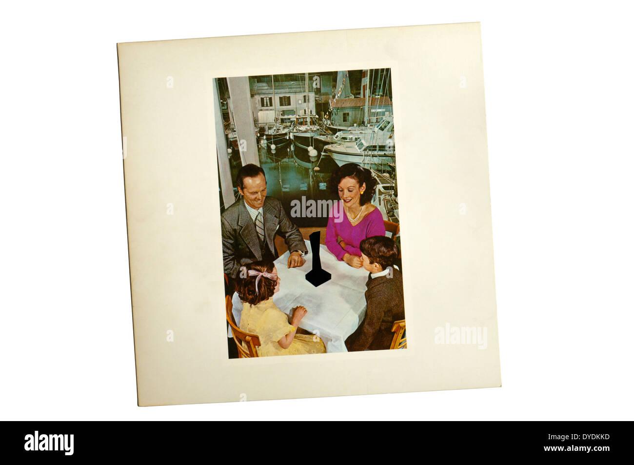 Anwesenheit war das 7. Studioalbum der englischen Rock-band Led Zeppelin. Es wurde 1976 von Swan Song Records veröffentlicht. Stockbild