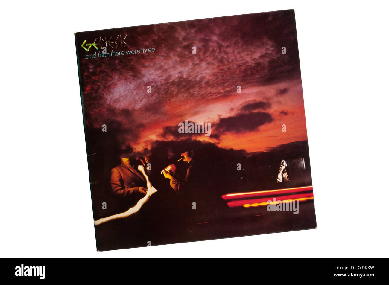 Und dann es waren drei war das 9. Studioalbum der britischen Band Genesis und ihre erste als Trio. Es erschien im Jahr 1978. Stockbild
