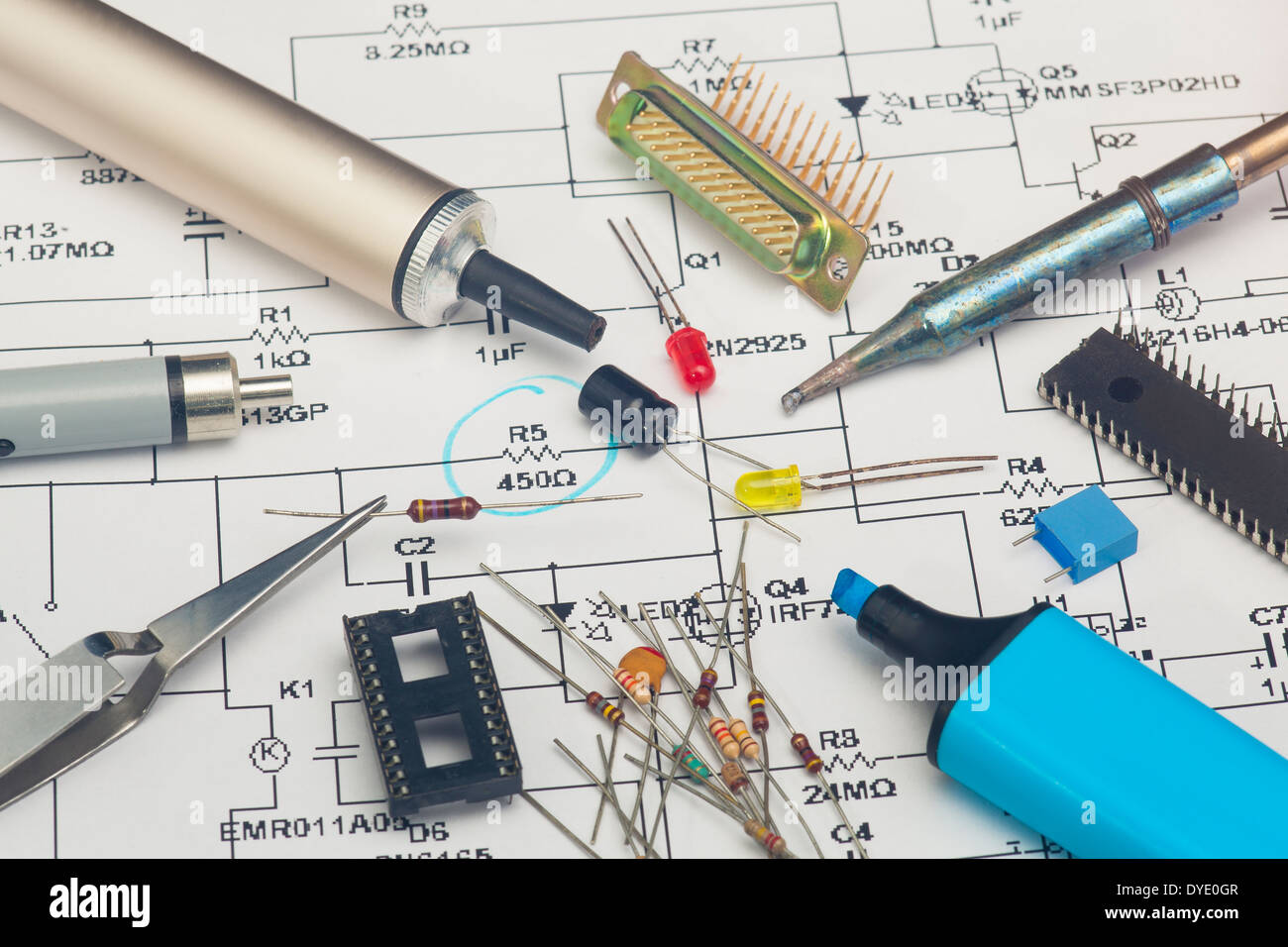 Resistor Electronic Electronics Components Stockfotos & Resistor ...