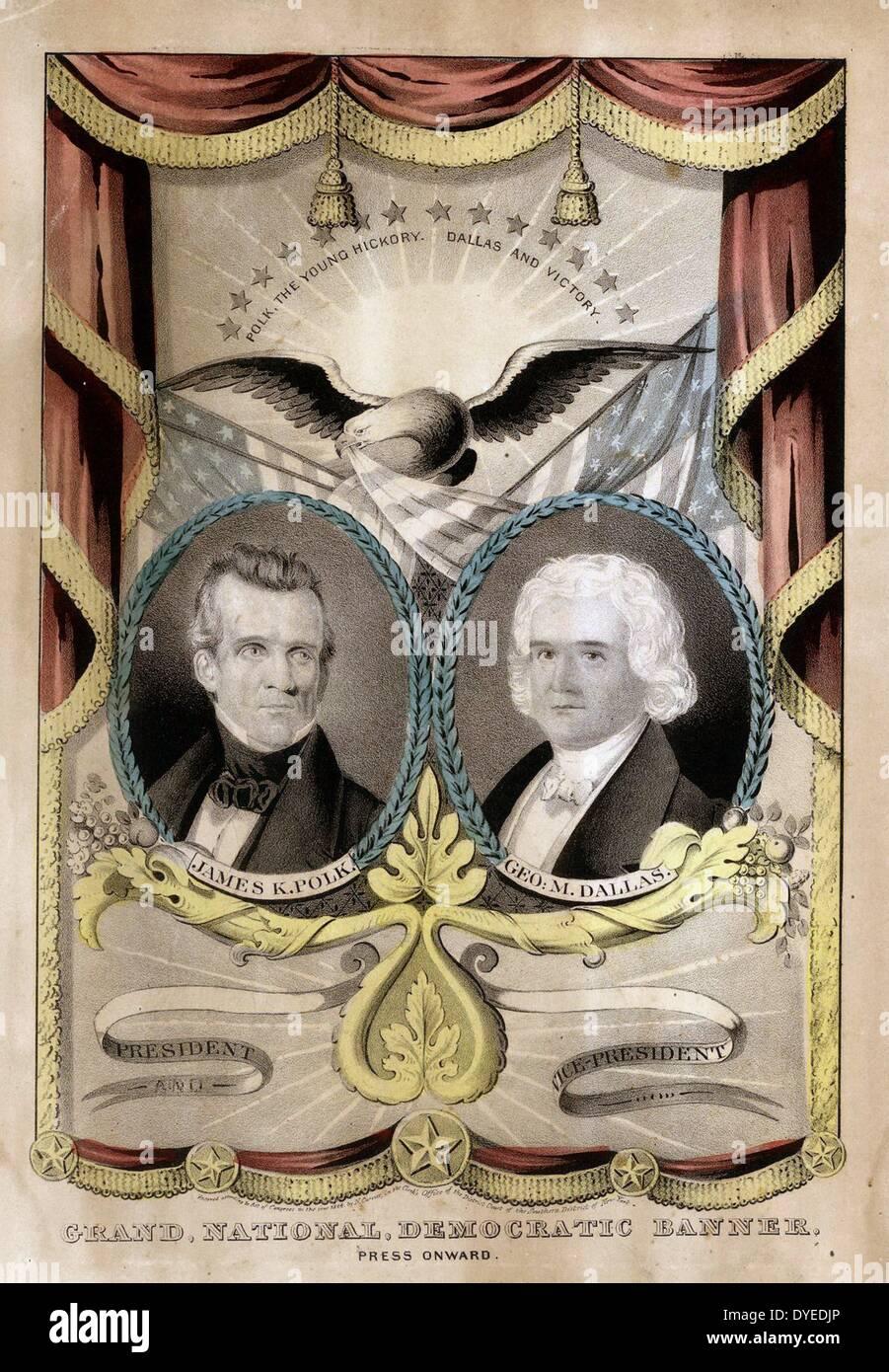 Ovale Portraits der demokratischen Präsidentschaftskandidaten 1754 n. Chr. Stockbild