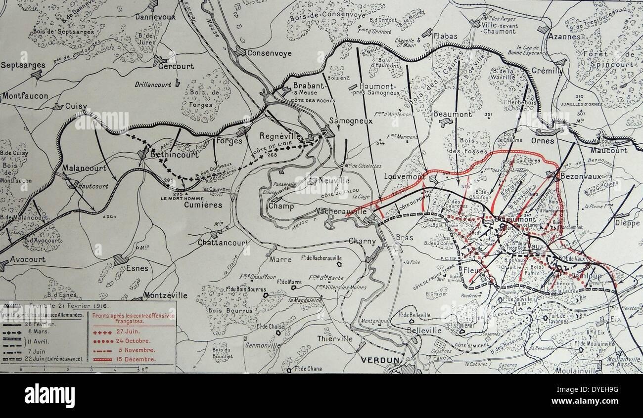 Weltkrieg 1 Die Schlacht Von Verdun Von 21 Februar Bis 18