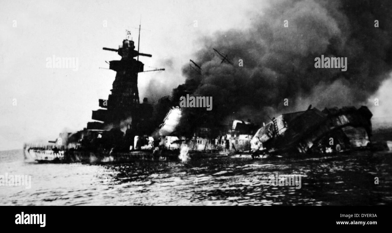 """Admiral Graf Spee war ein Deutschland-Klasse schwerer Kreuzer (""""Panzerschiff"""") die mit der Kriegsmarine Stockbild"""