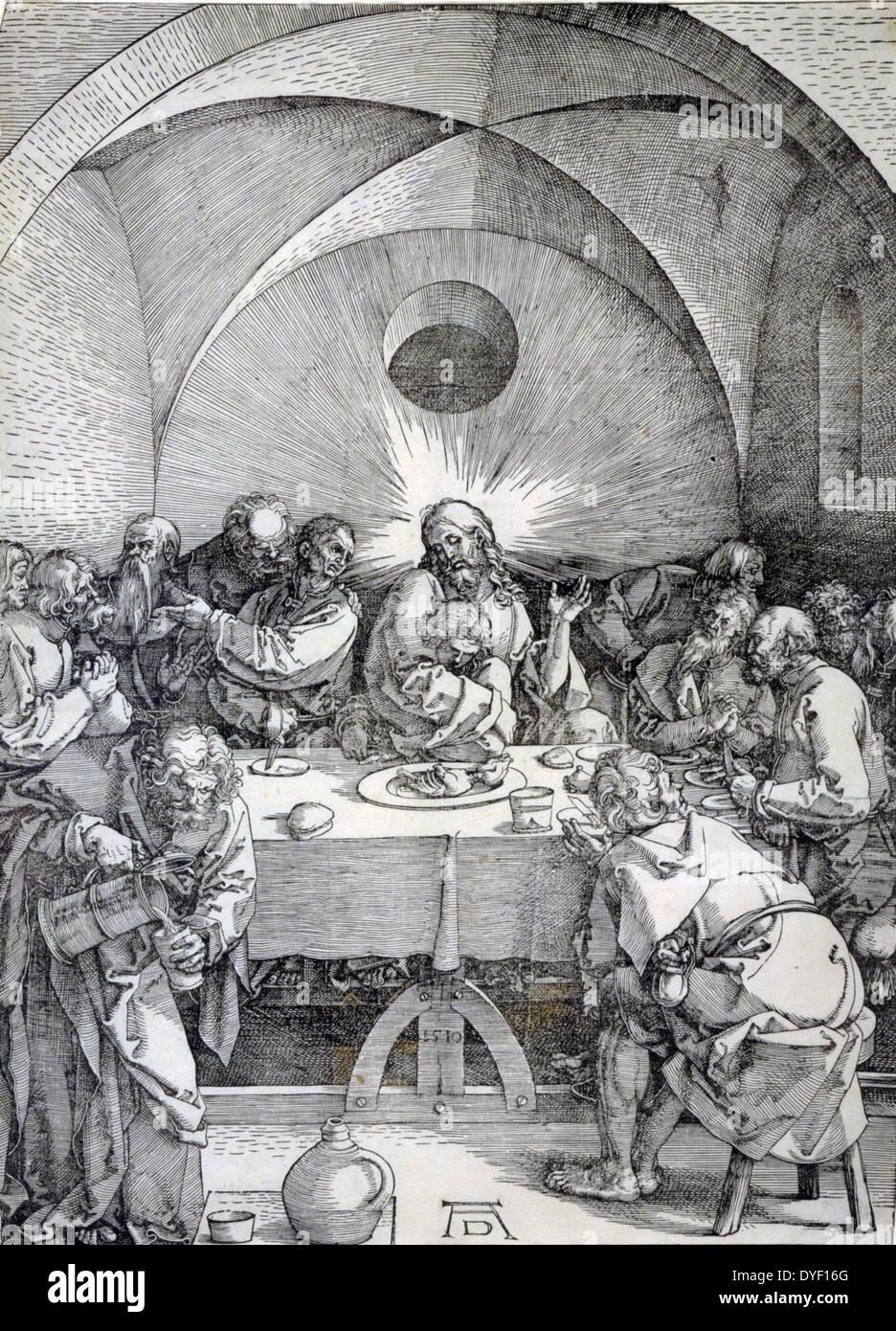 Die große Leidenschaft: letzte Abendmahl von Albrecht Dürer, 1471-1528, Künstler. Veröffentlichten Stockbild