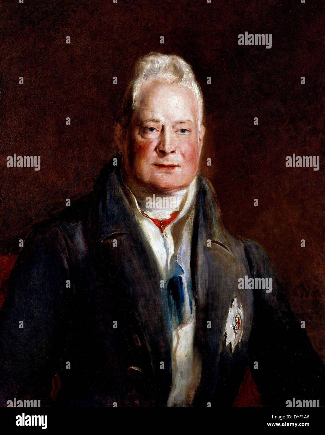Portrait von Wilhelm IV., König des Vereinigten Königreichs von Großbritannien und Irland sowie Hannover ab dem Stockfoto
