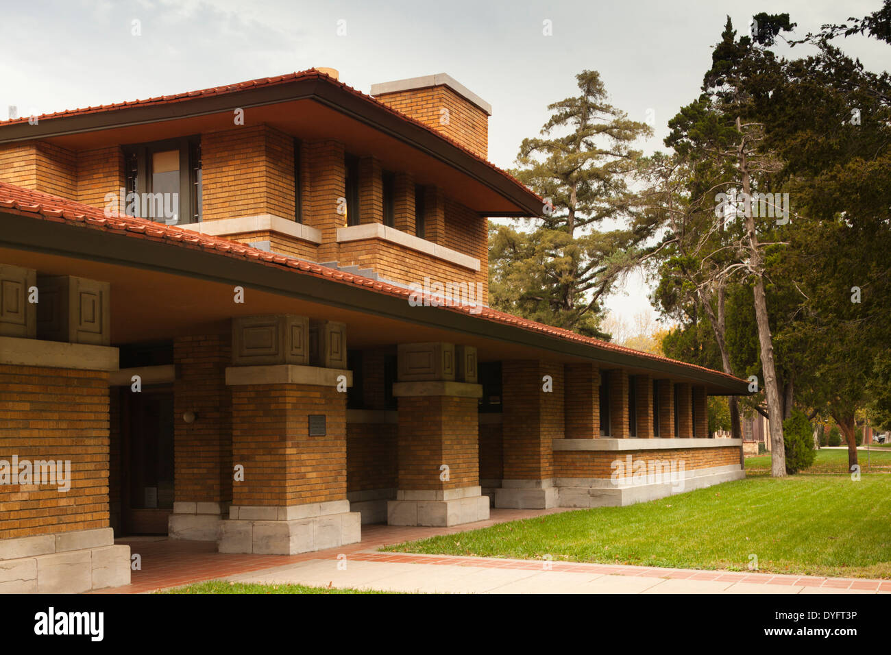 Frank Lloyd Wright-Allen Lambe House Museum, Wichita, Kansas, USA ...