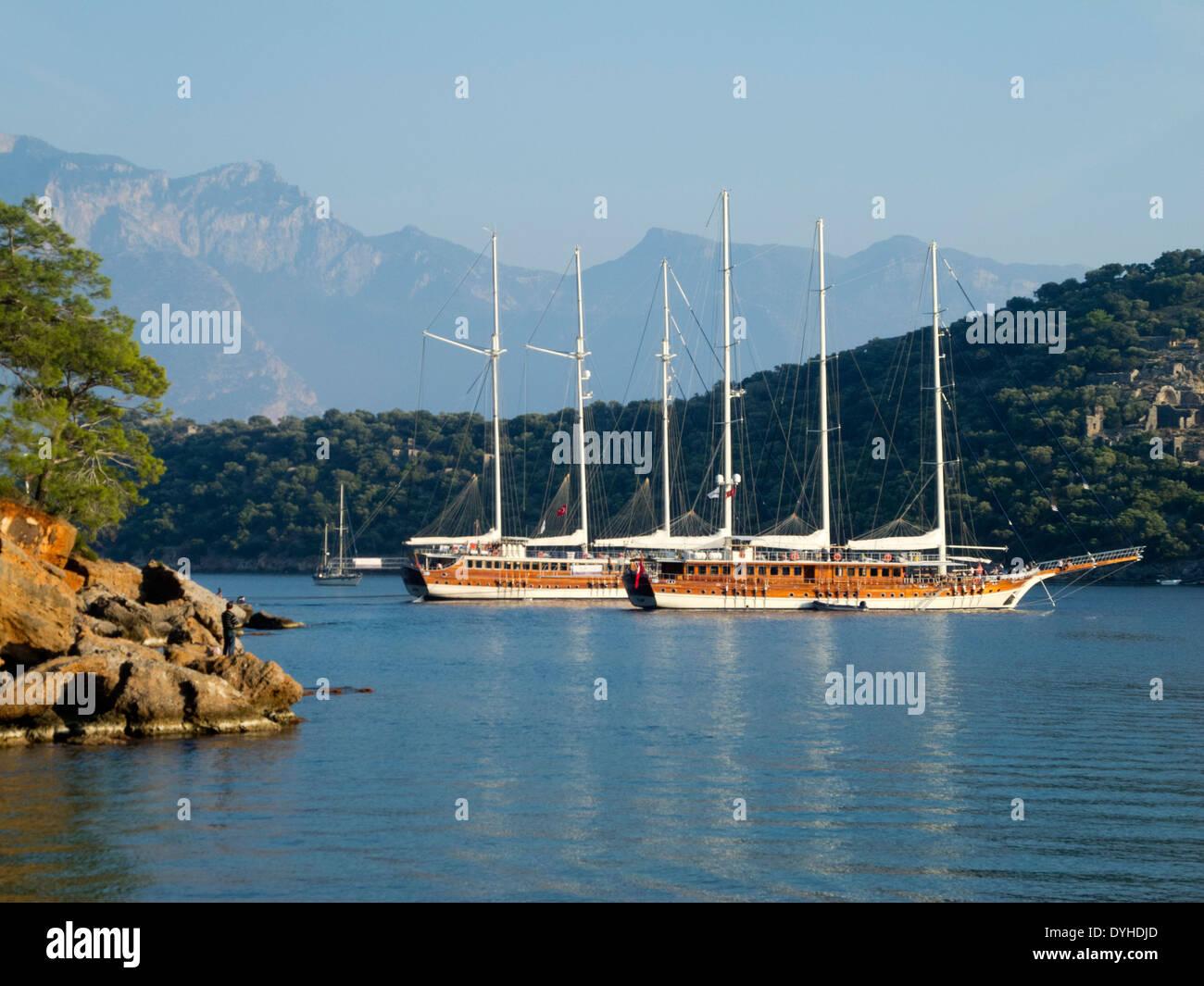Ägypten, Ölü Deniz, Gemile Koyu (Gemile Bucht) Sprachlernspiels der Insel Gemiler (Nikolausinsel), Stockbild