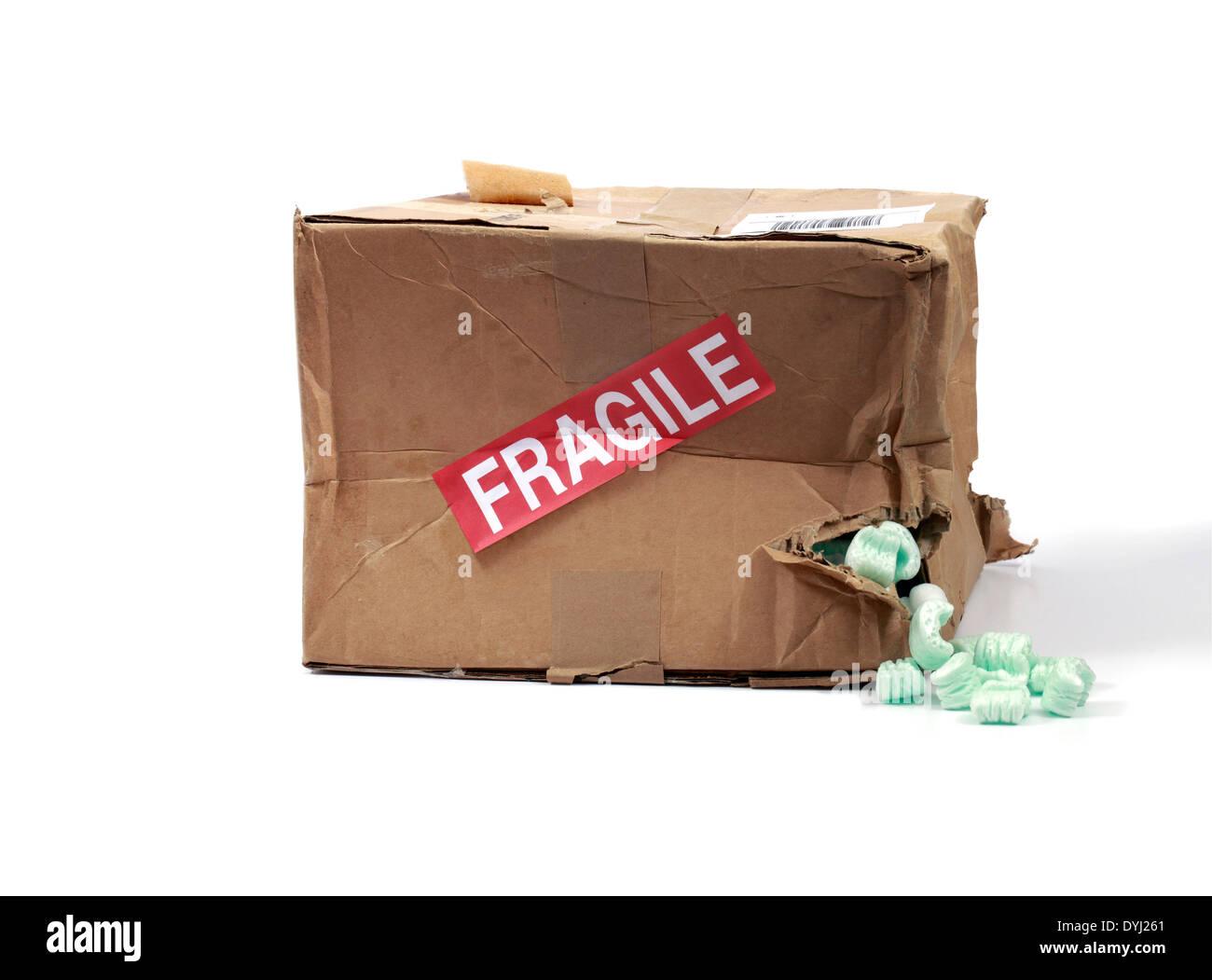 Studioaufnahme von einem verprügeln Lieferbox Stockbild