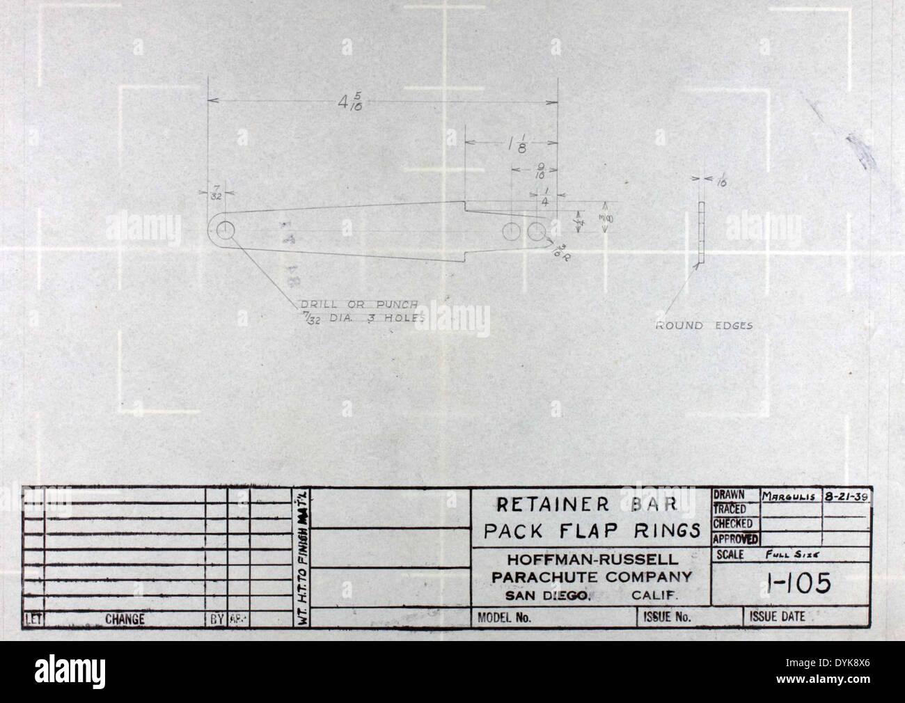 Bauplan: Halter Bar Pack Klappe Ringe Stockfoto, Bild: 68650910 - Alamy