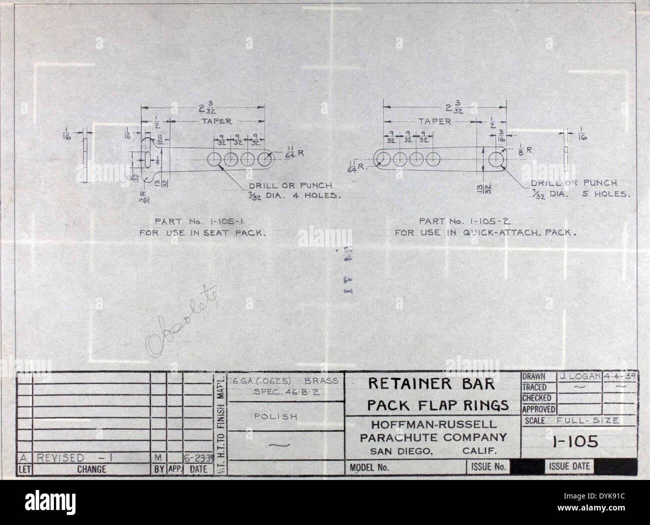 Bauplan: Halter Bar Pack Klappe Ringe Stockfoto, Bild: 68651000 - Alamy