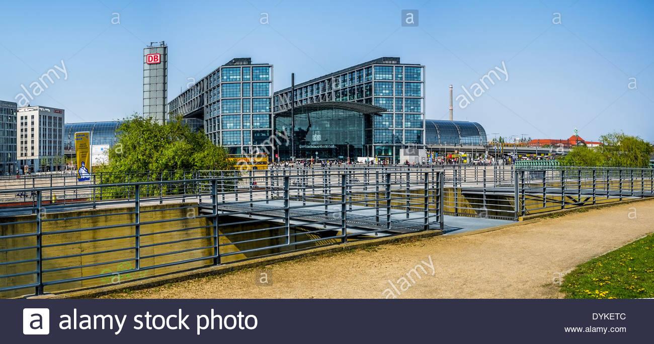 Berliner Hauptbahnhof-Berlin Hauptbahnhof Stockbild