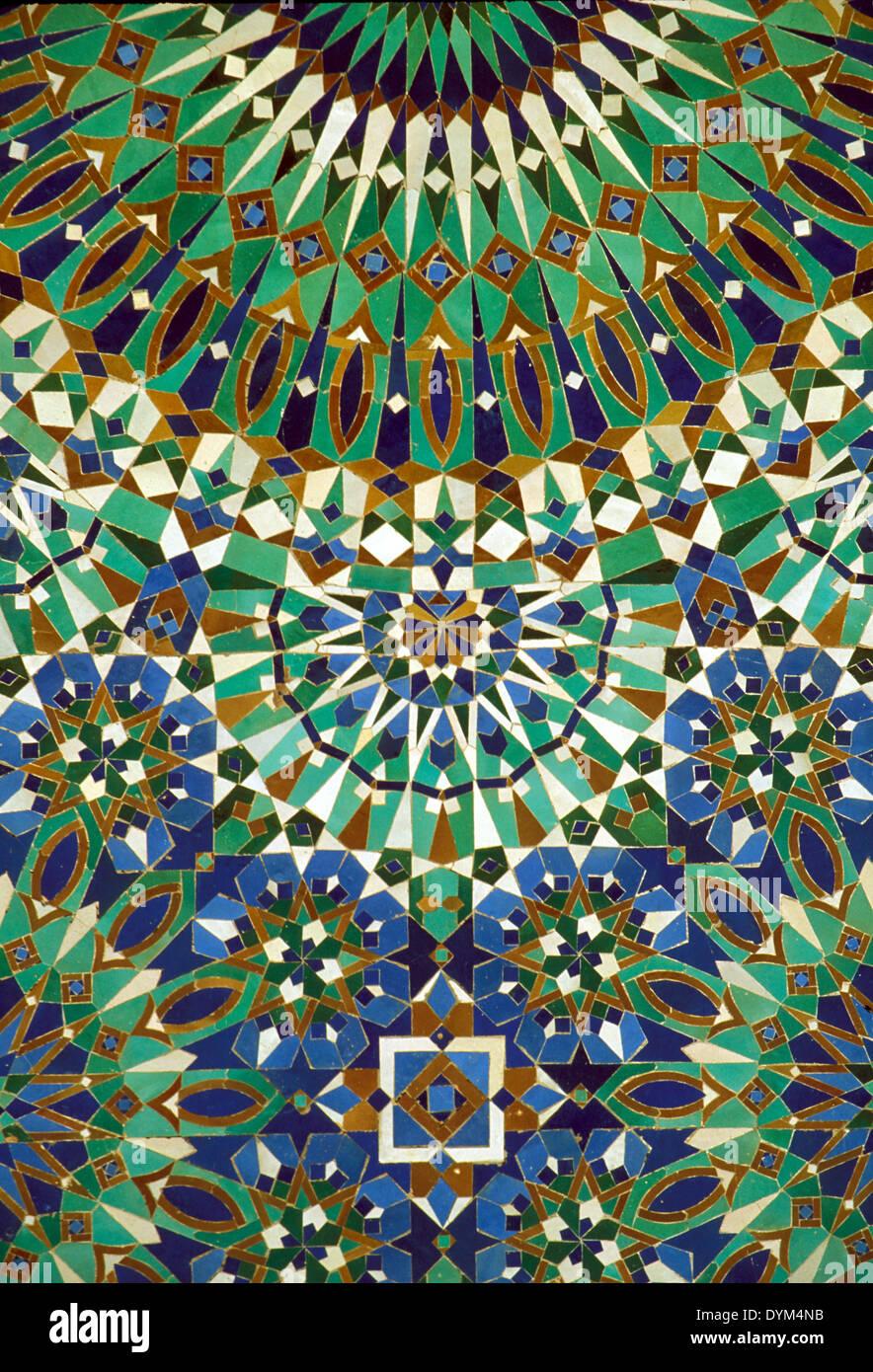Fliesen Mosaik Hassan Ii Moschee In Casablanca Marokko Stockfoto