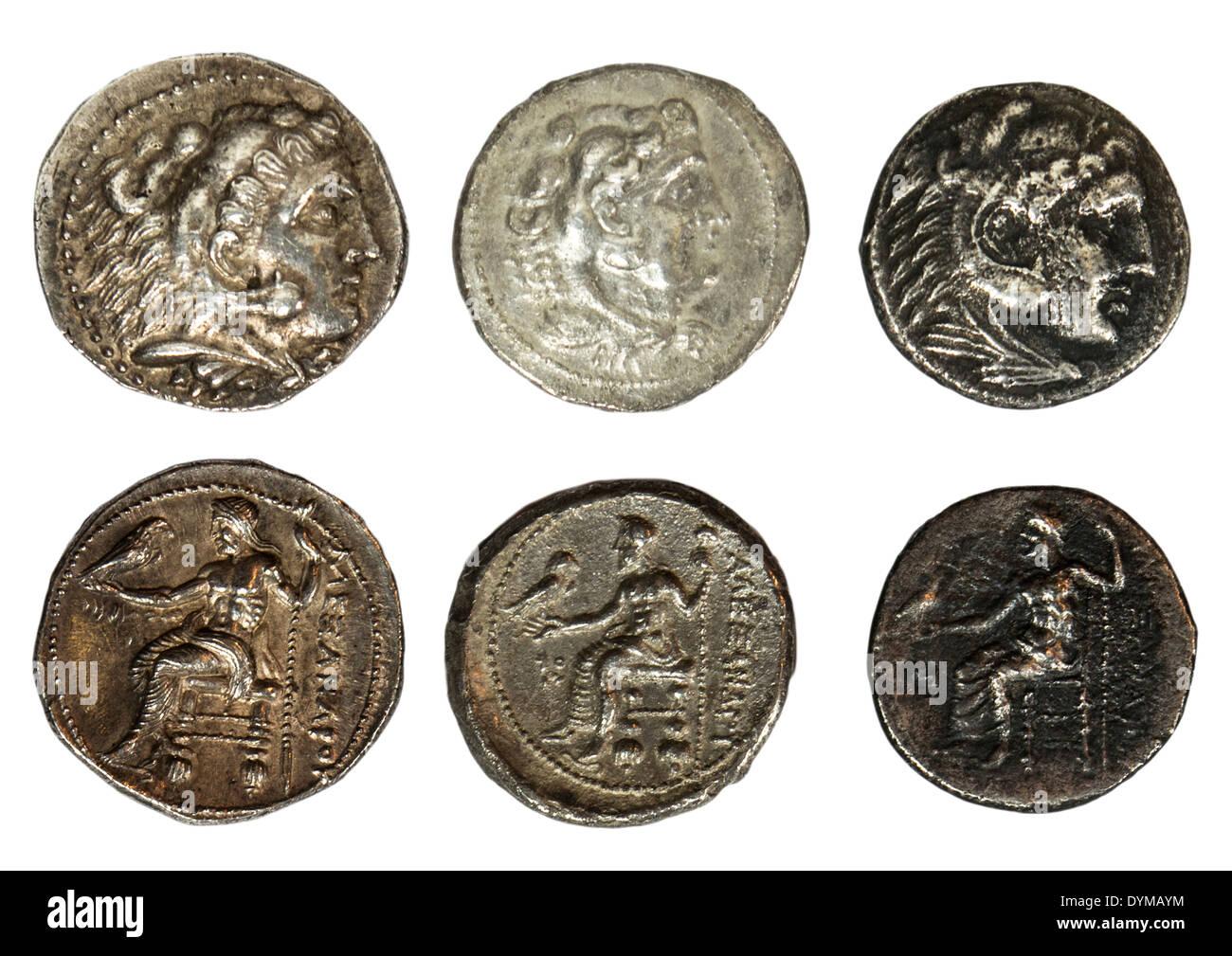 Alexander Der Große Silber Tetradrachme Münzen 336 323 V Chr Mit