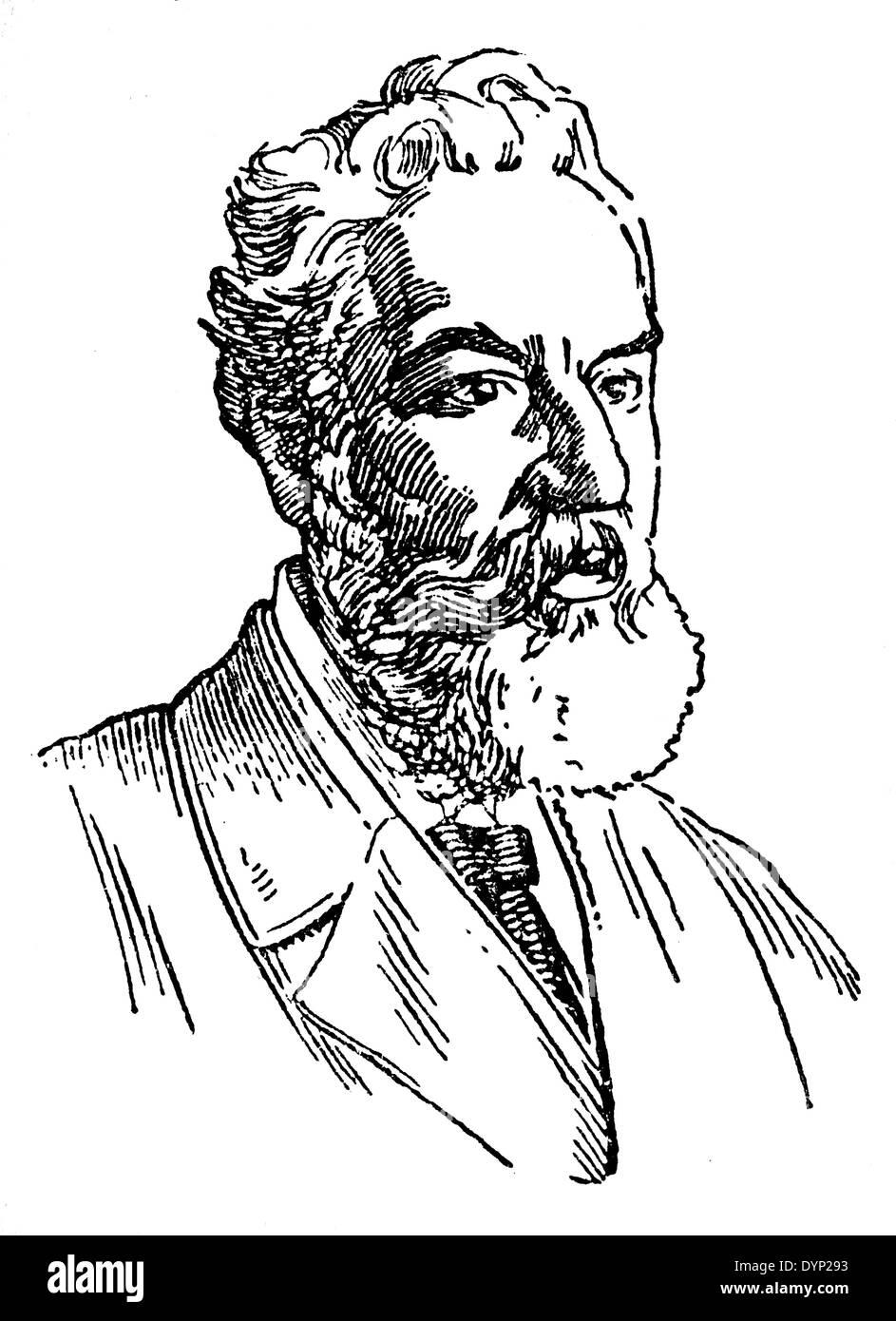 Alexander Graham Bell (1847-1922), Wissenschaftler, Erfinder, Ingenieur und Erfinder, Illustration aus sowjetischen Enzyklopädie, 1927 Stockbild