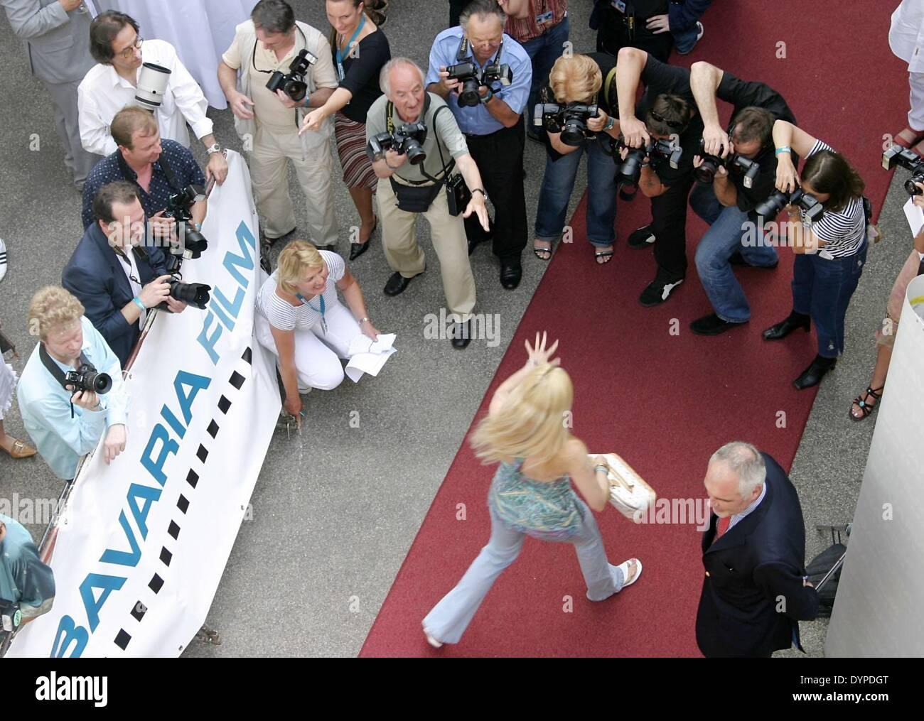 """Rezeption der """"Bavaria Film"""" an """"Filmfest München"""", 2005 Stockbild"""
