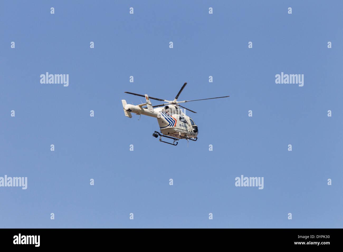 MD 900 Explorer belgischen Polizei-Hubschrauber Stockbild