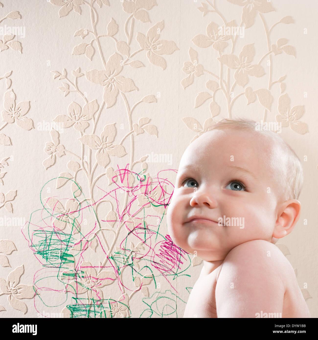 Freche baby Stockbild