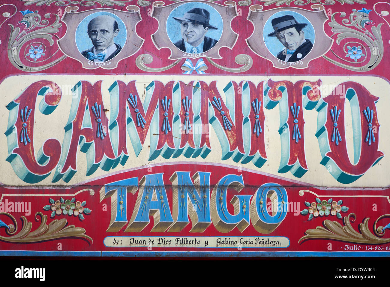 Caminito Straße Wandmalerei. La Boca-Viertel. Buenos Aires. Argentinien Stockbild