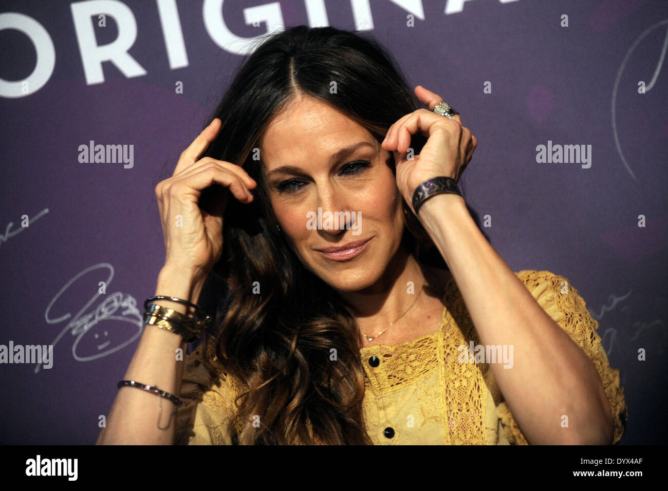New York, NY, USA. 25. April 2014. Sarah Jessica Parker besucht Variety Powerfrauen: New York Mittagessen bei Cipriani 42nd Street am 25. April 2014 in New York City Credit: Dpa picture-Alliance/Alamy Live News Stockbild