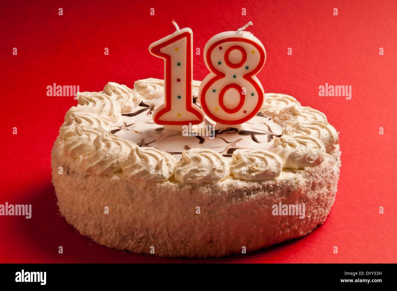 Birthday Cake Happy Birthday 18 Stockfotos Birthday Cake Happy