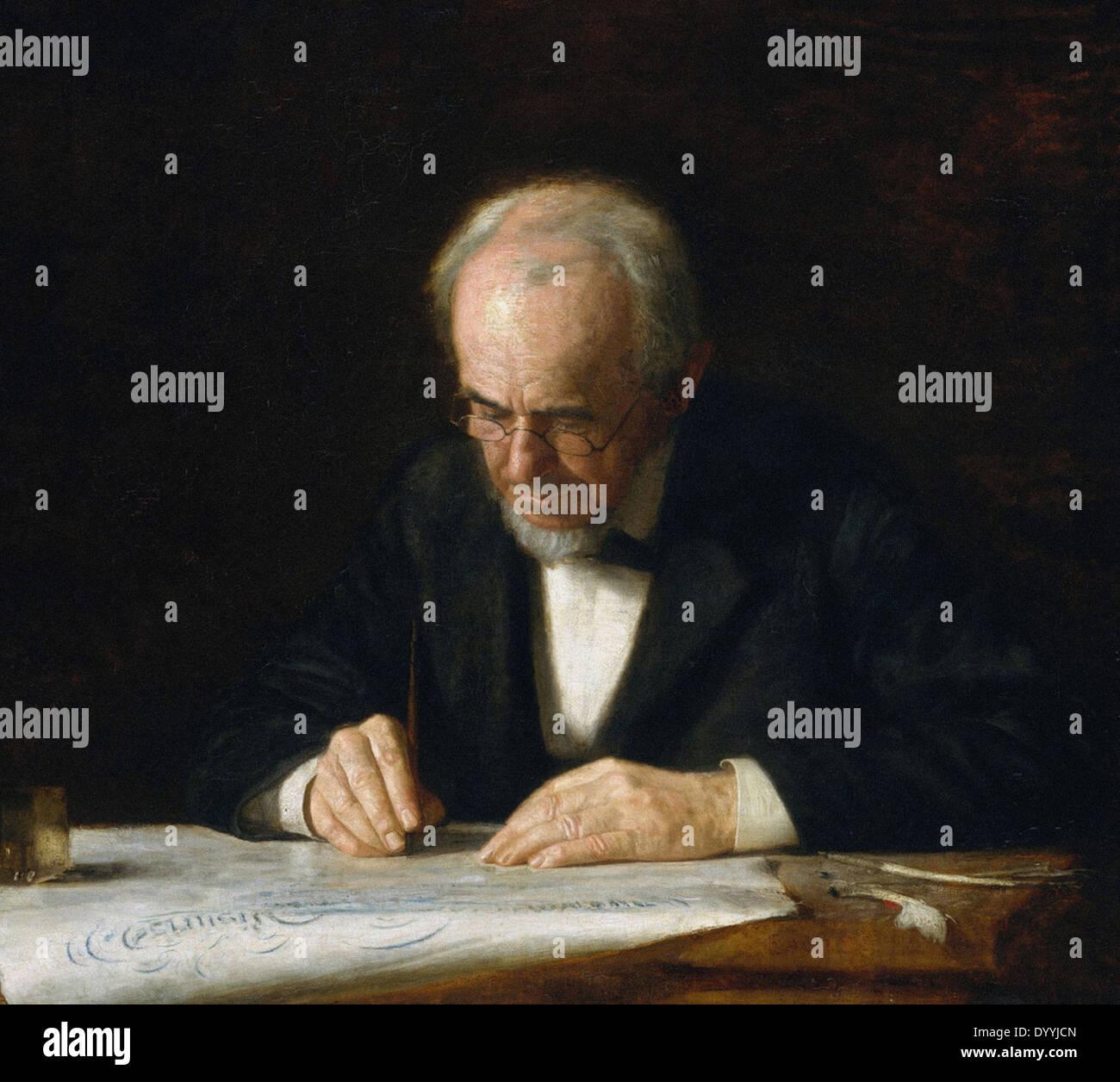 Thomas Eakins schreiben Master Stockbild