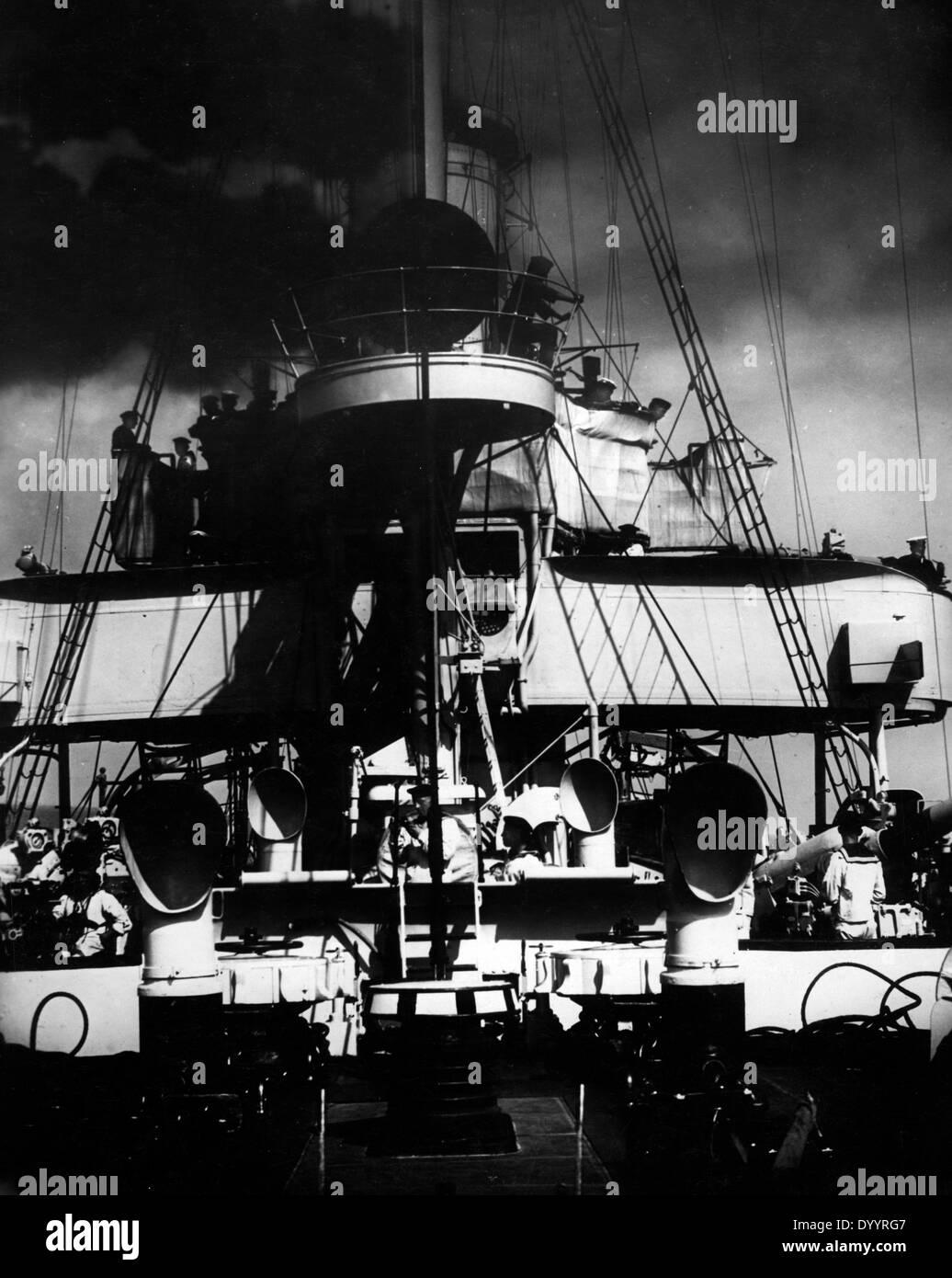 """Filmszene aus """"Kreuzer Emden"""", 1932 Stockbild"""