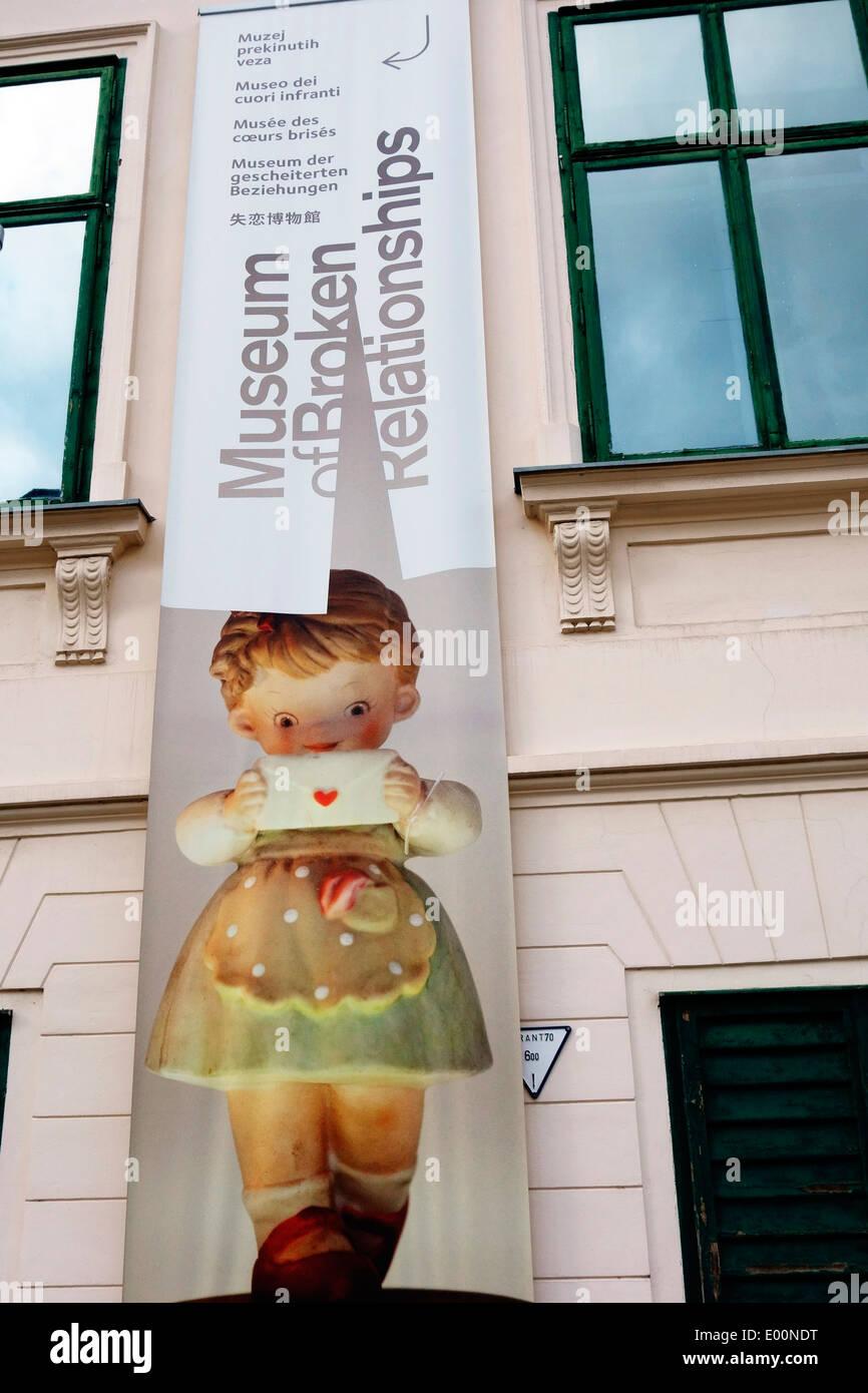 Das Museum der zerbrochenen Beziehungen, Zagreb Stockfoto