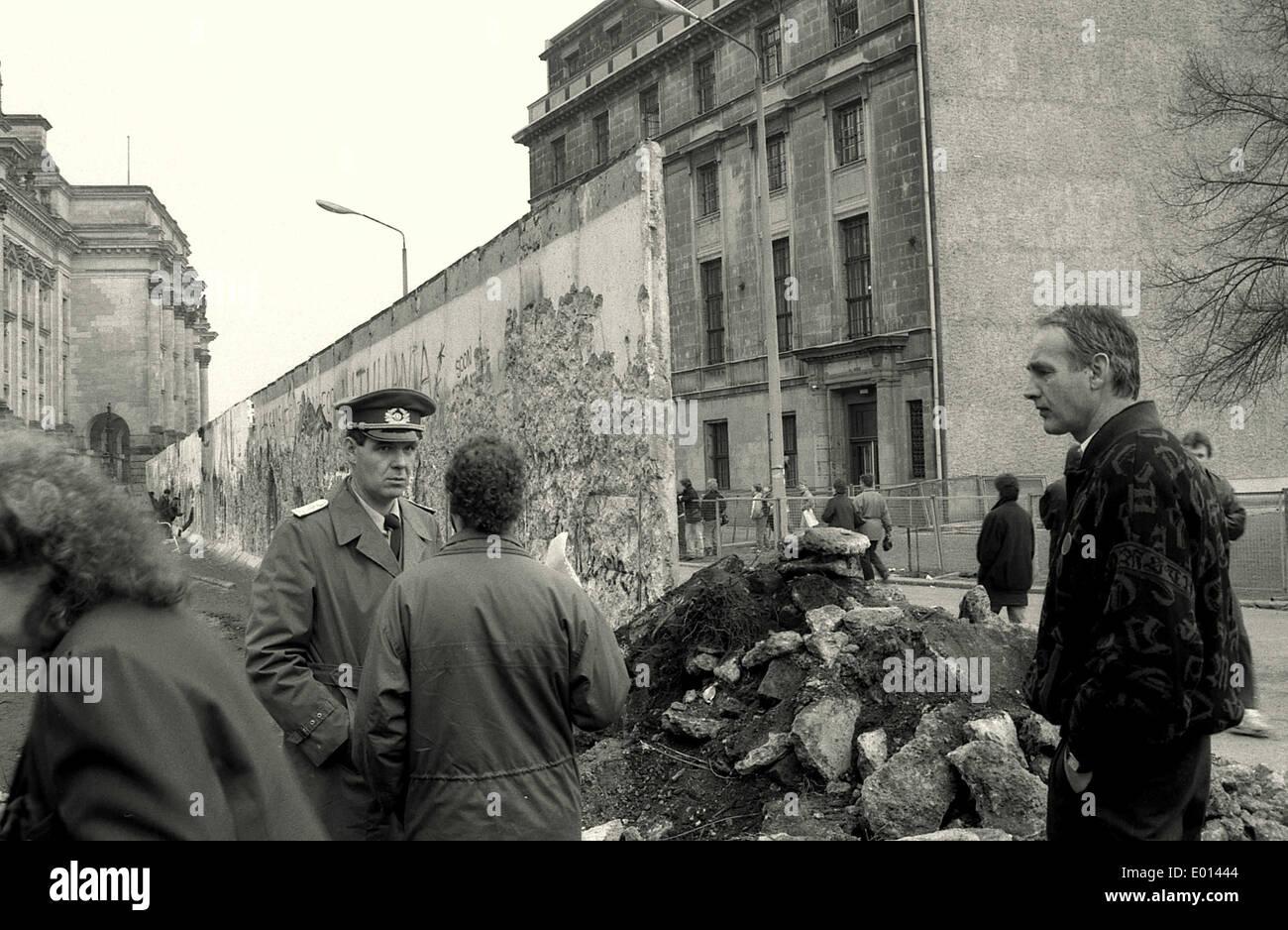 Fall der Mauer in Berlin Stockbild