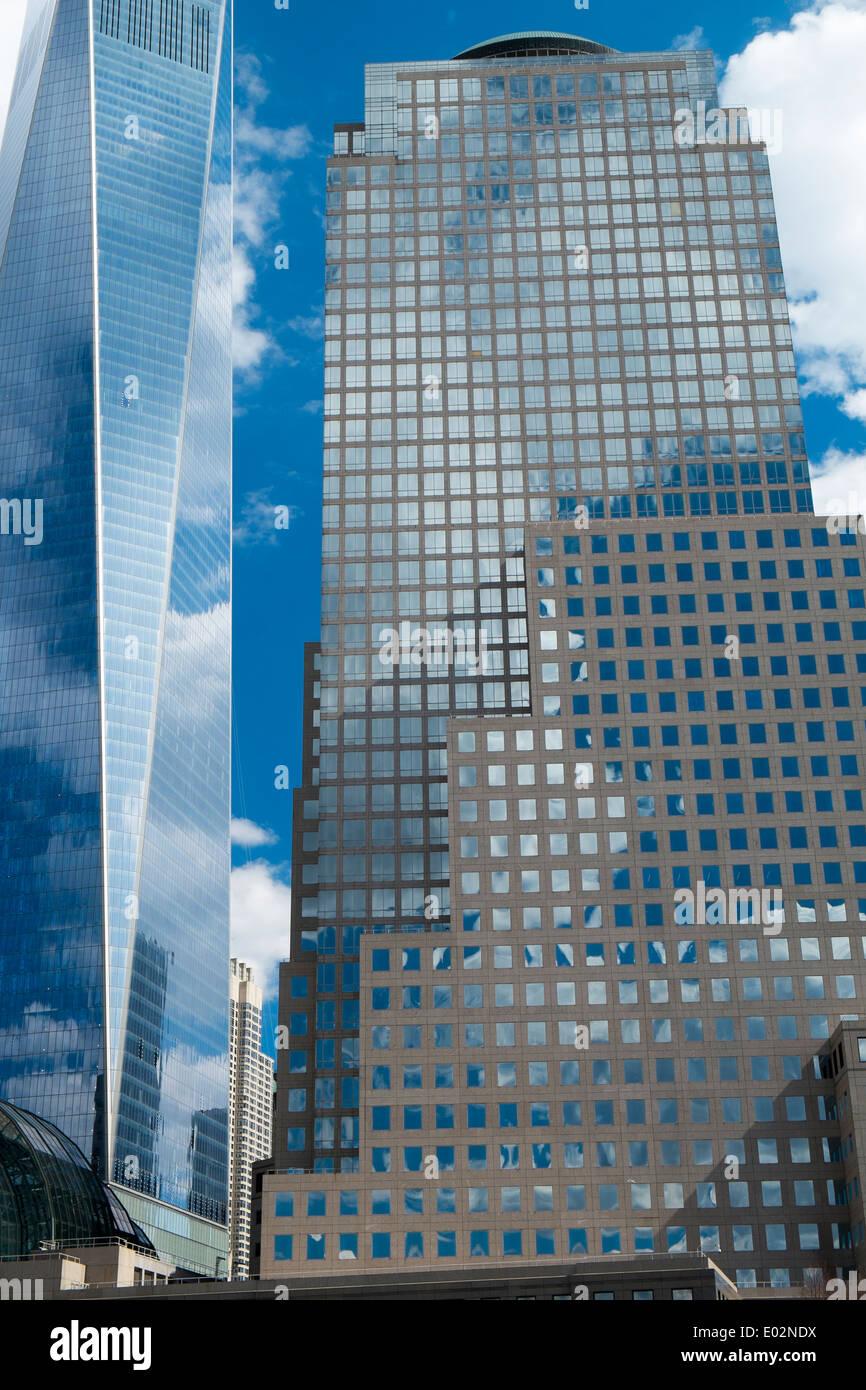 Moderne Bürogebäude, Financial District, Manhattan, New York Stockbild