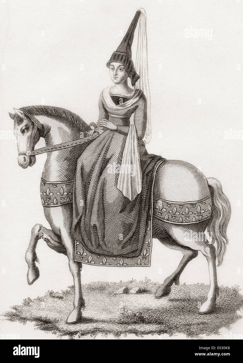 Margarete von Schottland, 1424 ?1445. Prinzessin von Schottland und die Dauphine von Frankreich. Stockbild