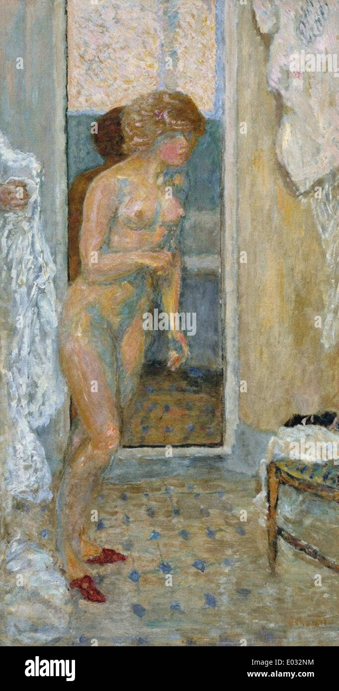 Pierre Bonnard nach dem Bad Stockbild